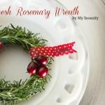 Fresh Rosemary Wreath for Christmas Dinner
