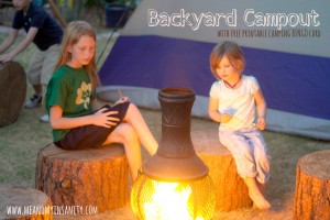 Summer Camping or Backyard Bingo