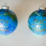 Peace on Earth DIY ornaments