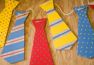 Wooden Father's Day Tie Banner