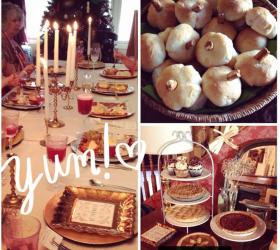 Thanksgiving Tablescape Menu and Dessert Bar